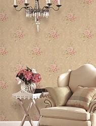 mur papier mural, papier peint classique de papier pur floral