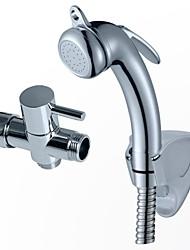 bidet shattaf douche spruzzare cromo WC spruzzatore set tubo testa igienica