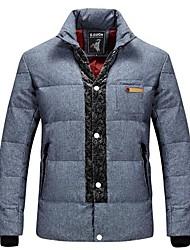 Men's Regular Down Coat , Cotton/Others Long Sleeve