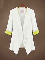 contrasto di colore vestito casuale fit giacca sportiva di Marcia delle donne