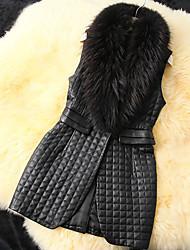 chaleco de piel sintética de moda femenina shibeini