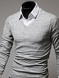 t-shirt cashmere v pescoço grandes Moda Masculina