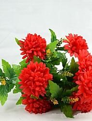 Seda Crisântemo Flores artificiais