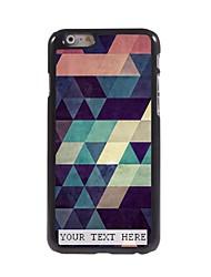 caso de telefone personalizado - caso projeto triângulo de metal colorido para iphone 6