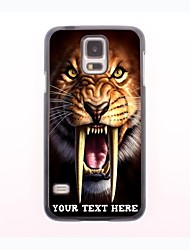 Personalized Phone Case - Tiger Design Metal Case for Samsung Galaxy S5