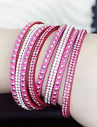european estilo de moda selvagem pulseira de couro de comprimento (mais cores)