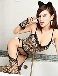 Sexy Lingerie Leopard Catsuit Lingerie Uniform