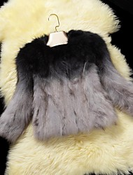 Fur  Jackets Women's  Color Gradient Raccoon Short Fur  Jacket