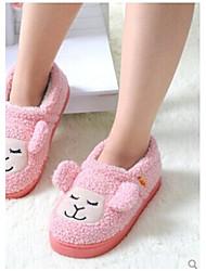 Мода смазливая теплый стиль овец тапочки обувь