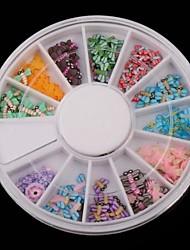 12 серия цвета фрукты мягкие керамика пчел проигрыватель Nail Art Decoration