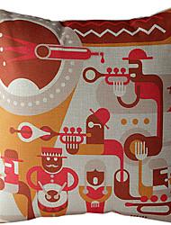 The Celebration Cotton/Linen Printed Decorative Pillow Cover