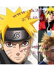 Cosplay Wigs Naruto Naruto Uzumaki Golden Short Anime Cosplay Wigs 30 CM Heat Resistant Fiber Male