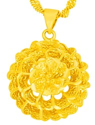Obsses Leaf Gold Plate Pendant