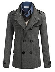 SPORTSTREET Men's Fashion Lapel Neck Sheath Coat