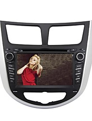 Rungrace 7-inch 2 Din TFT Screen In-Dash Car DVD Player For Hyundai Verna With Bluetooth,Navigation-Ready GPS,RDS