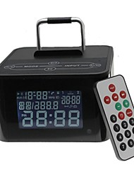 Tipo de base del altavoz bluetooth inalámbrica con reloj usb fm tf mic para el iphone + compatible teléfono más móvil