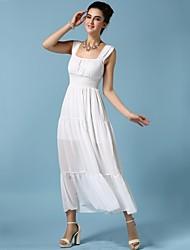 Bandi Das®Women's Straps Ankle-length Chiffon Dress