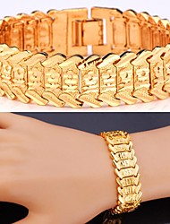 Fancy Hot Flowers Bracelet 18K Real Gold Platinum Plated Chain Chunky Bracelet Bangle for Women High Quality