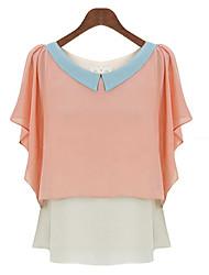 De messic vrouwen contrasterende kleur blouses