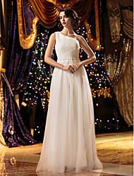Lanting Bride A-line Petite / Plus Sizes Wedding Dress-Floor-length One Shoulder Tulle