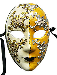 Handmade Pulp Music Full Face Carnival Mask