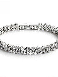 Oya Women's Silver-Plated All Matching Shinning Inlaid Zircon Leisure Bracelet