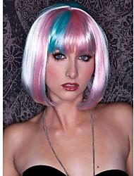 мода цветной слой ощущение упругой Аккуратные взрыва анимация короткие прямые волосы парик