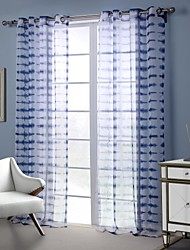Designer One Panel Geometric ture Living Room Polyester Sheer Curtains Shades