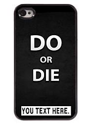gepersonaliseerd geval doen of sterven ontwerp metalen behuizing voor de iPhone 4 / 4s