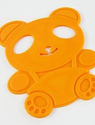 desenhos animados pot silicone forma urso esteira, cozinhar lugar russa, cor aleatória