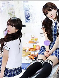 menina bonito uniforme escolar estudante
