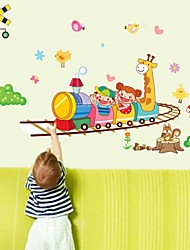 Wall Stickers Wall Decals, Cartoon Kids Train PVC Wall Stickers
