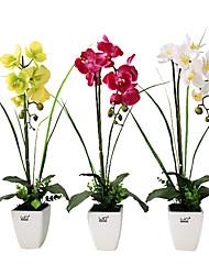 belle orchidée de logements bouquet artificiel, en plastique