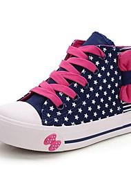 Sneakers de diseño ( Azul/Rosado ) - Dedo redondo - Lienzo