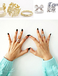 Eruner®Hollywood loved Leaf blade Knuckle Ring 2sets