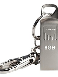 Strontium Silver USB Flash Drive 8GB with Metal Key Chain