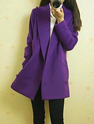 European Fashion couleur unie manches longues manteau de Kakani femmes