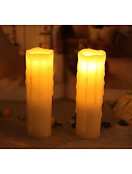Home Impressions™ 1-3/4x6 Inch Flameless Real Wax Dripping Votive Led Candle,Pack of 2