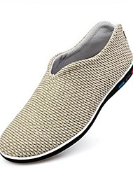 Men's Shoes Office & Career/Casual Fabric Slippers Ivory/Gray