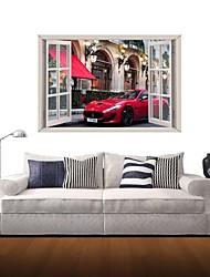 3d Stickers muraux stickers muraux, de course de voiture la maison décor vinyle stickers muraux