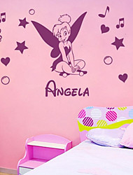 JiuBai® Personalized Cartoon Child Room Wall Sticker Wall Decal, Please Offer A Name