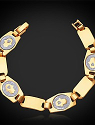 U7® Hamsa Hand Palms Chain Bracelet 18K Real Gold Plated Link Bracelet Fashion Jewelry