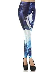 estrela de impressão digital de floresta profunda padrão deus cavalo leggings das mulheres