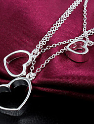 Starry High Quality Casual Three Heart Necklace