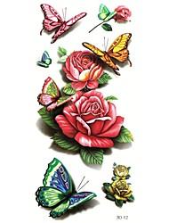 Tatuajes Adhesivos - Modelo/Waterproof - Series de Animal - Mujer/Girl/Adulto/Juventud - Multicolor - Papel - #(5) - #(24cm*9.5cm)