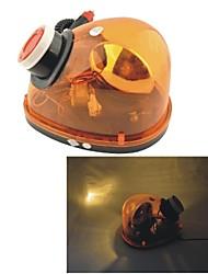 Carking™ 12V Car Vehicle Halogen Sound Buzzer Warning Light Flashing Strobe Light--Yellow