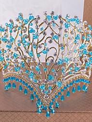 Новый эксклюзивный дизайн ромашка свадебный венец синий инкрустированные стразами подарочной коробке
