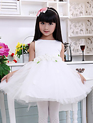 Ball Gown Knee-length Flower Girl Dress - Cotton Sleeveless