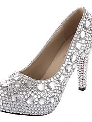 Mujer Zapatos de boda Tacones/Plataforma/Punta Redonda Tacones Vestido/Fiesta y Noche Plata