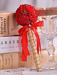 Gold Wedding Pen With Rose Ball-flower (More Colors)